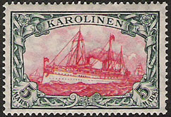 A postage stamp from the Carolines