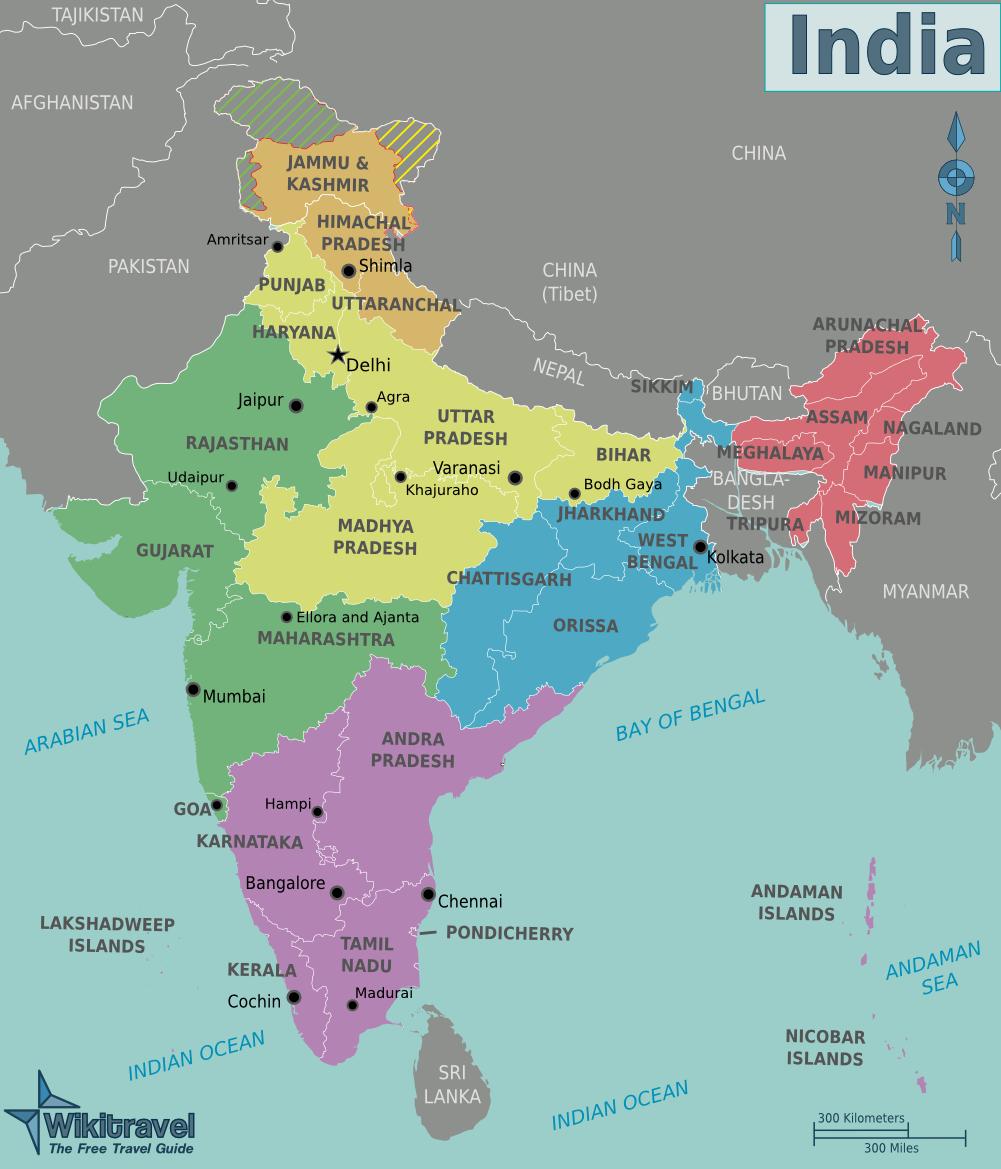 File:Karte-indien-regionen.png - Wikimedia Commons INDIEN KARTE