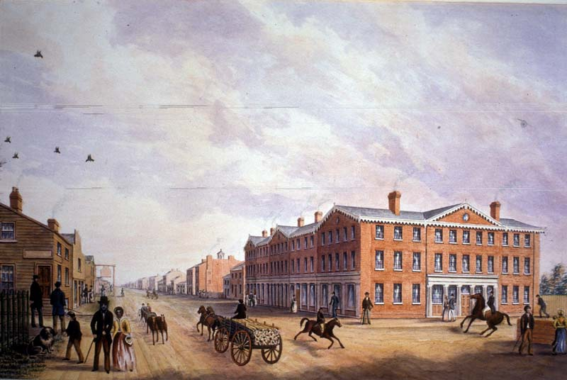 King and York Streets Toronto 1834