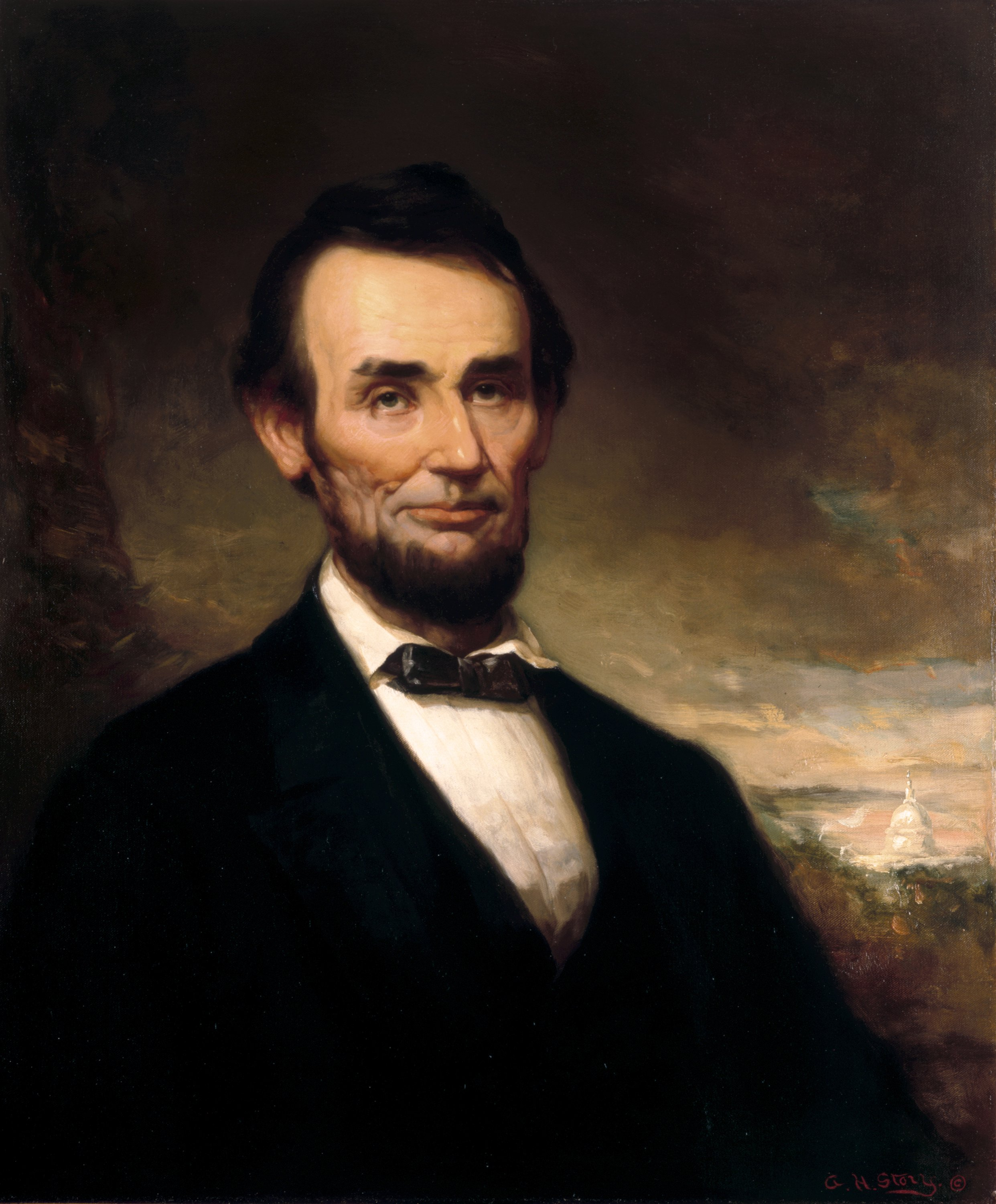 Oval Office Paintings File Lincoln By George H Story C1915 Jpg Wikimedia Commons