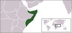 Location of Somàlia