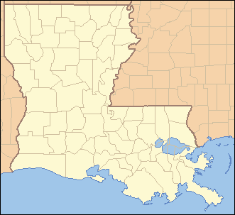 Political map of Louisiana