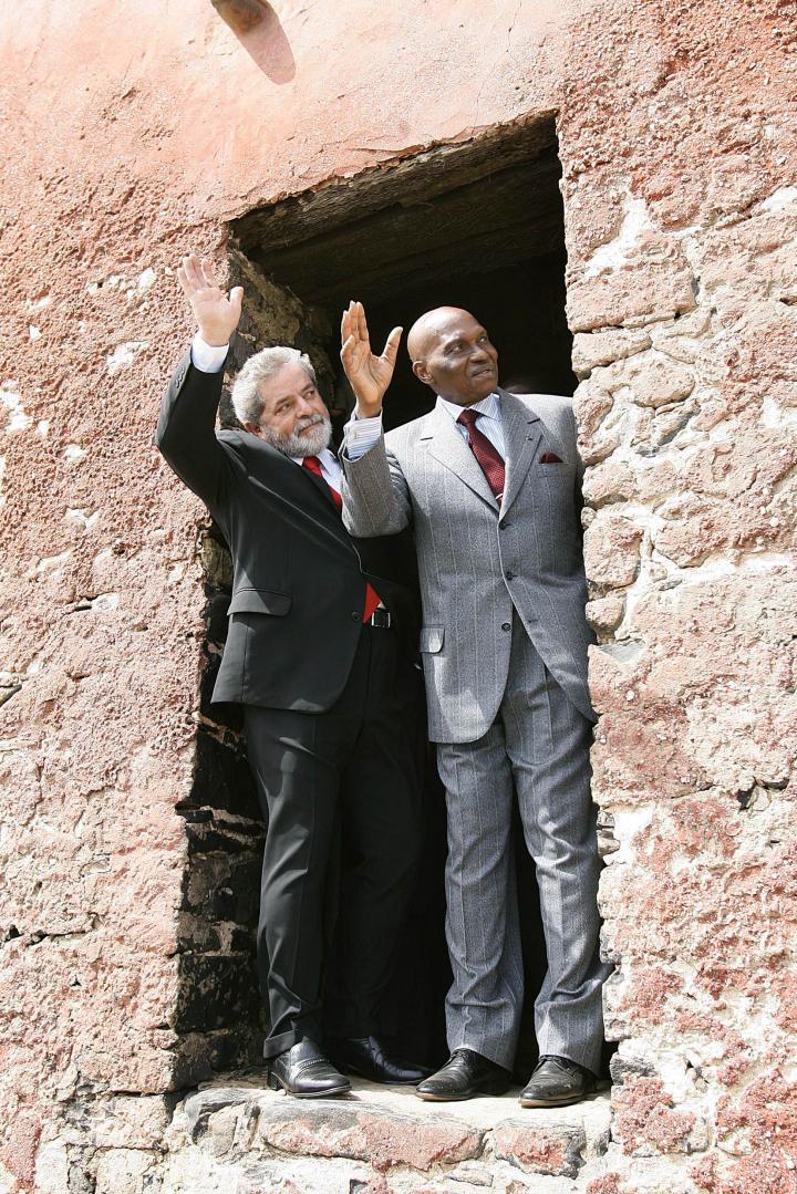 President of Brazil Lula da Silva and Wade, in April 2005.