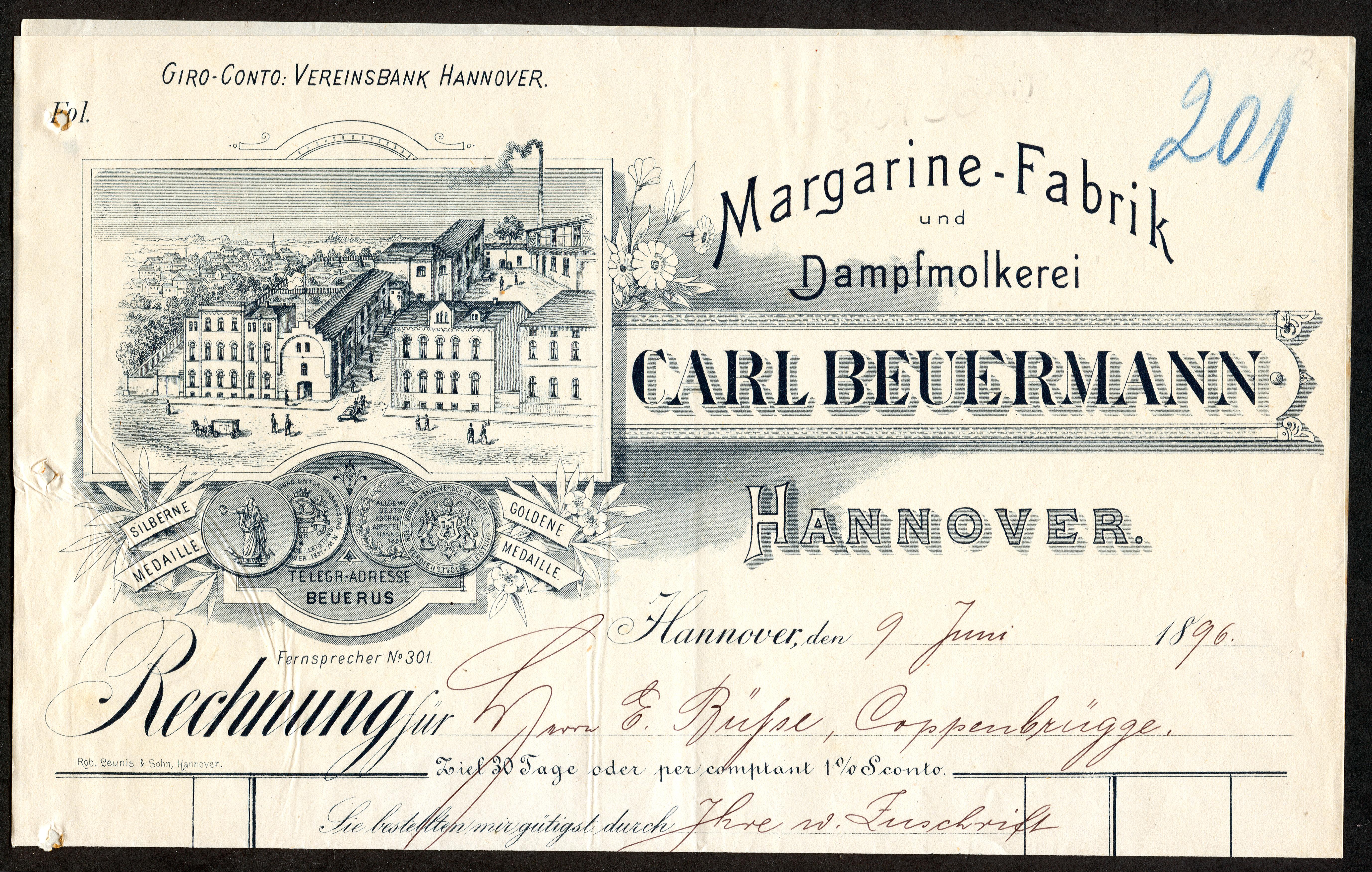 Dateimargarine Fabrik Und Dampfmolkerei Carl Beuermann Hannover