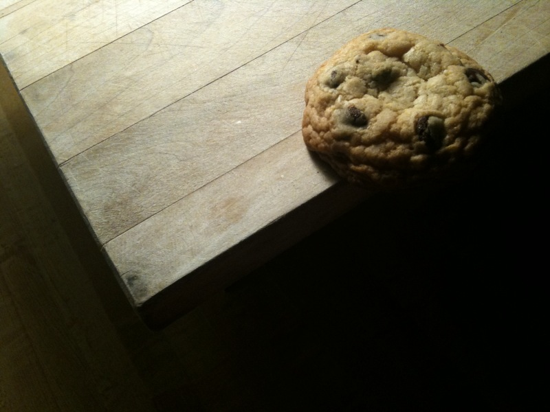 Melodramatic chocolate chip cookie