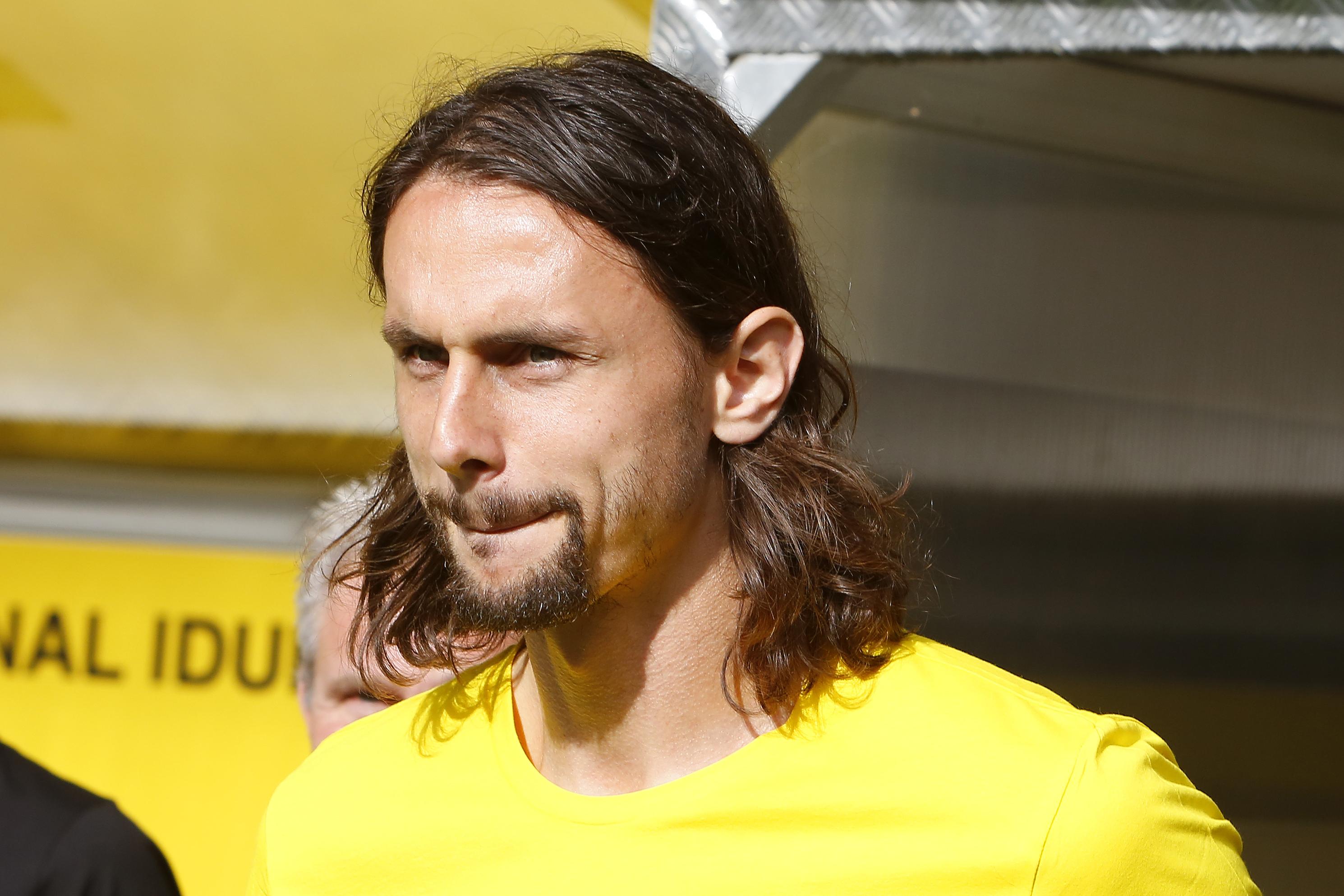 Neven Subotić  - 2018 Regular brown hair & alternative hair style.