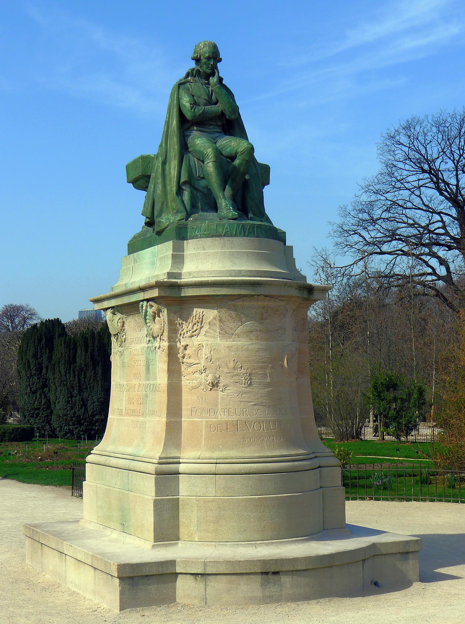 File P Paris V jardin des Plantes statue de Lamarck rwk