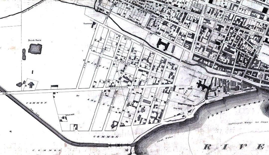 file plan de montreal en 1825 wikimedia commons. Black Bedroom Furniture Sets. Home Design Ideas