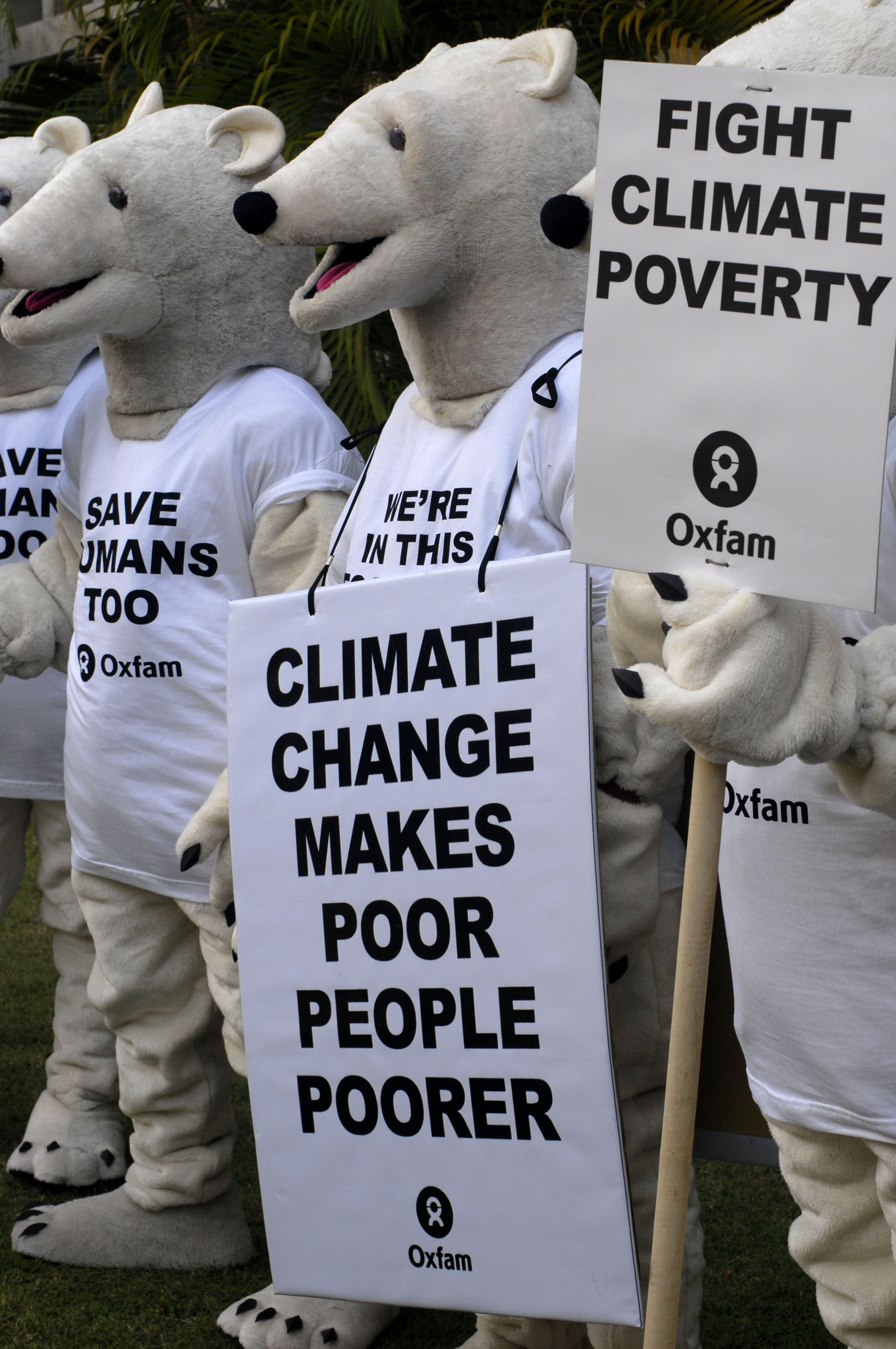 A campaign against climate change and its effects on the poor.