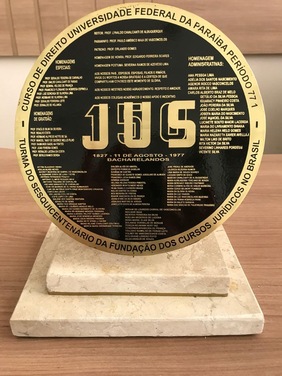 6520b83f05c File Réplica da placa de formatura - turma 1977 - Faculdade de Direito.jpg