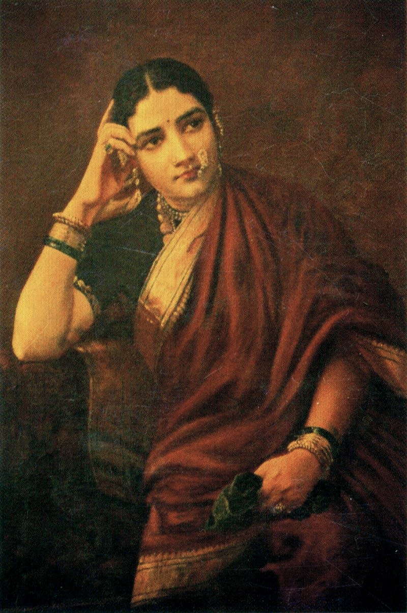 File:Raja Ravi Varma, Expectation.jpg