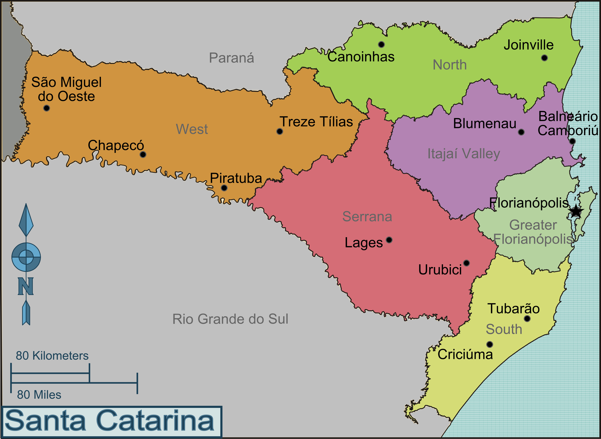 FileRegions Of Santa Catarinapng Wikimedia Commons - Lages map