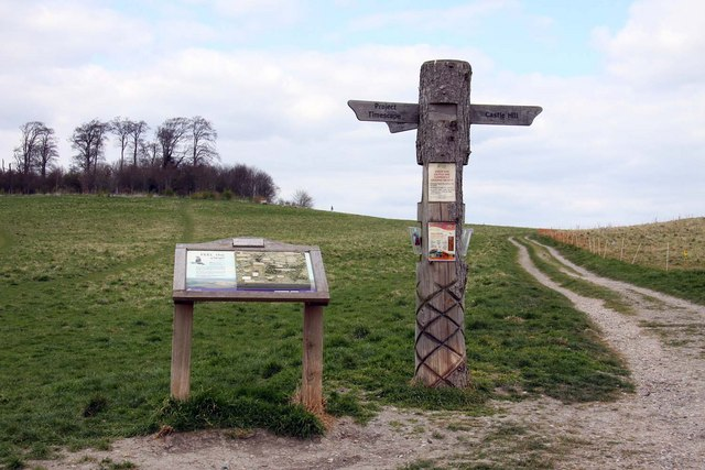 Relief map and signpost at the Sinodun Hills - geograph.org.uk - 1242166