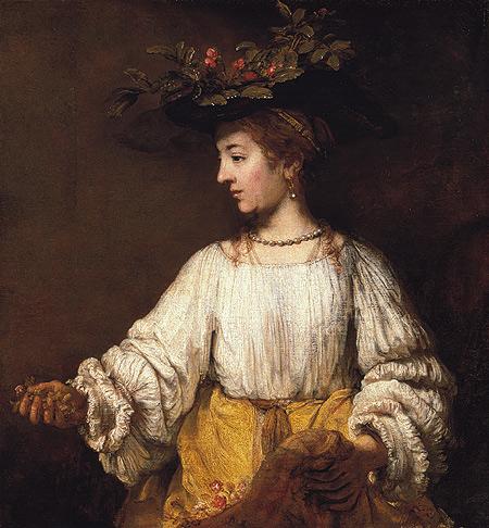 Rembrandt, Flora, circa 1654, Metropolitan Museum of Art, New York