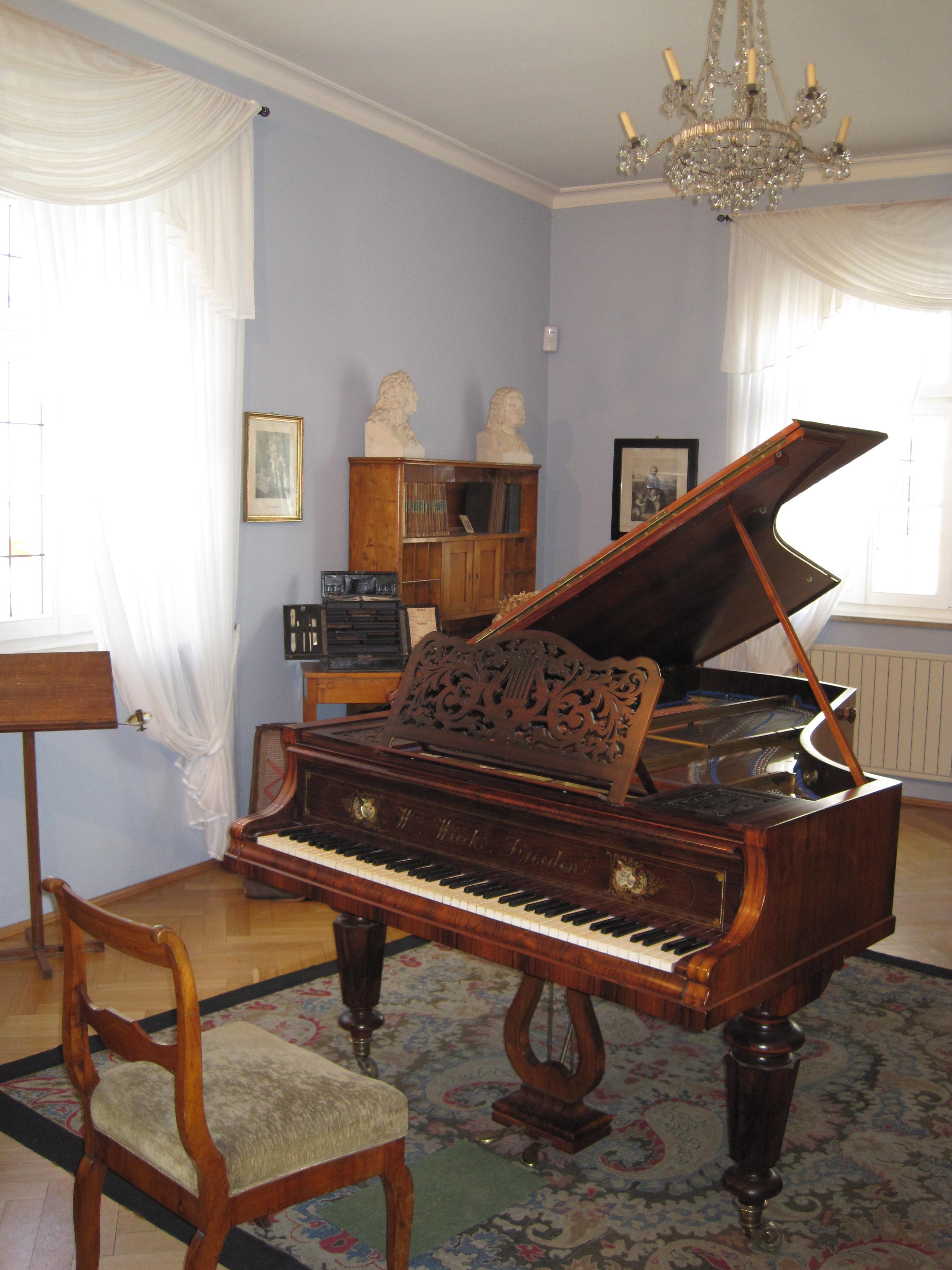Sala de Música de Robert Schumann en Zwickau Museo, Hauptmarkt 5.