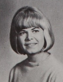 Struthers's senior class photo, 1965 Sally Struthers yearbook photo 1965.png