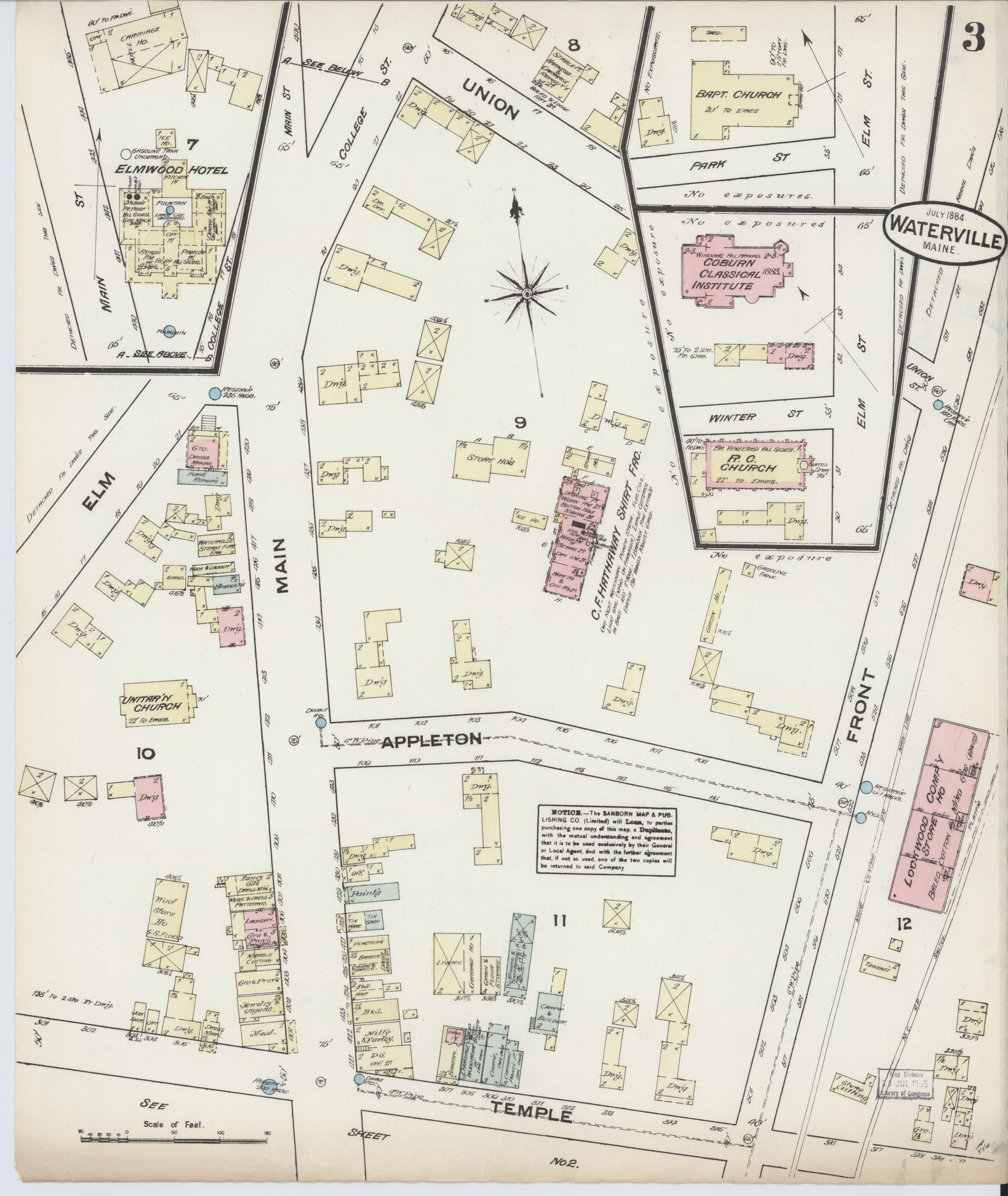 File Sanborn Fire Insurance Map From Waterville Kennebec County