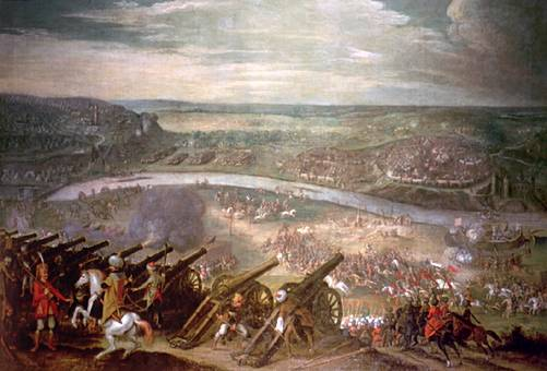 The Siege of Vienna, 1529.  Painting by Peter Snayers.