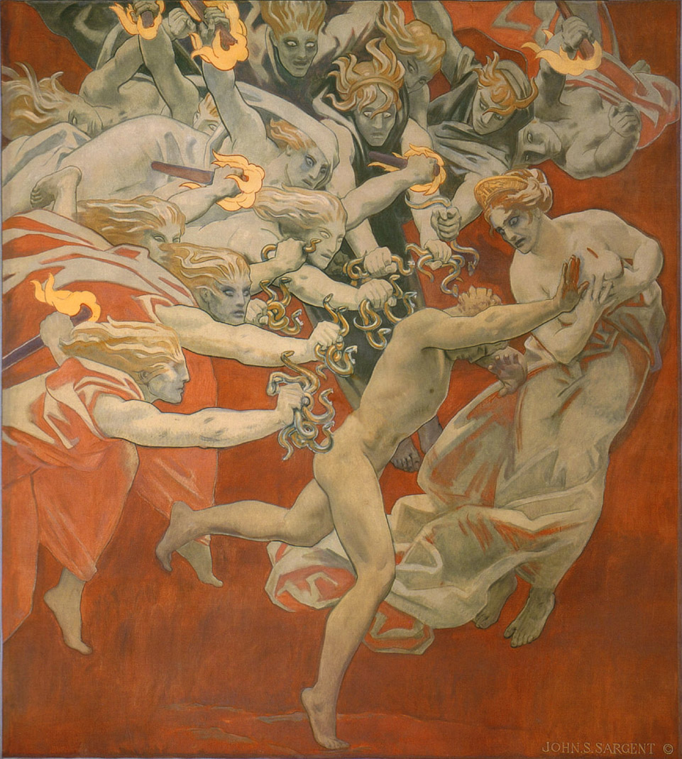 Orestes Pursued by the Furies, by John Singer Sargent [Public domain], via Wikimedia Commons