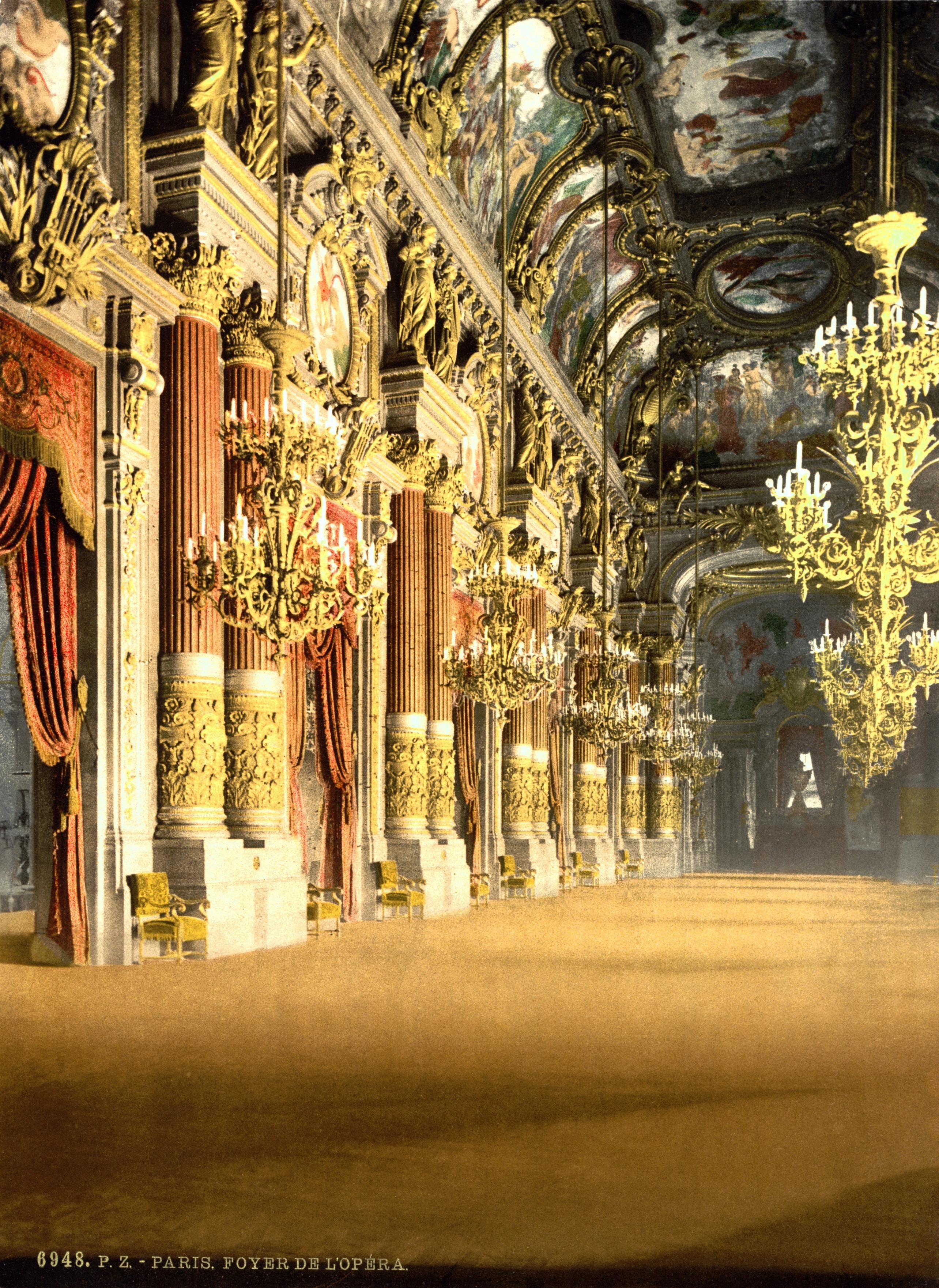 file the opera house the foyer paris france ca 1890. Black Bedroom Furniture Sets. Home Design Ideas