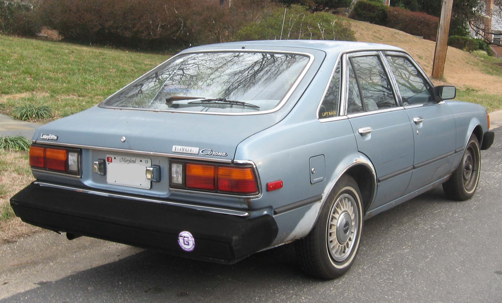 File Toyota Corona Liftback Rear Jpg Wikimedia Commons