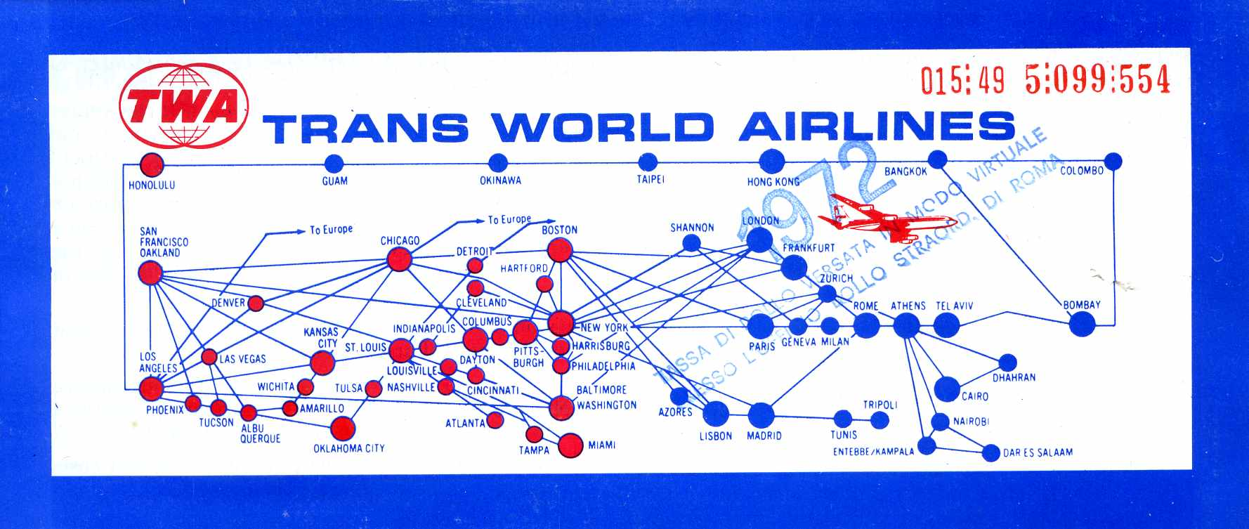 World Airline Route Map http://commons.wikimedia.org/wiki/File:Trans_World_Airlines_route_map.jpg