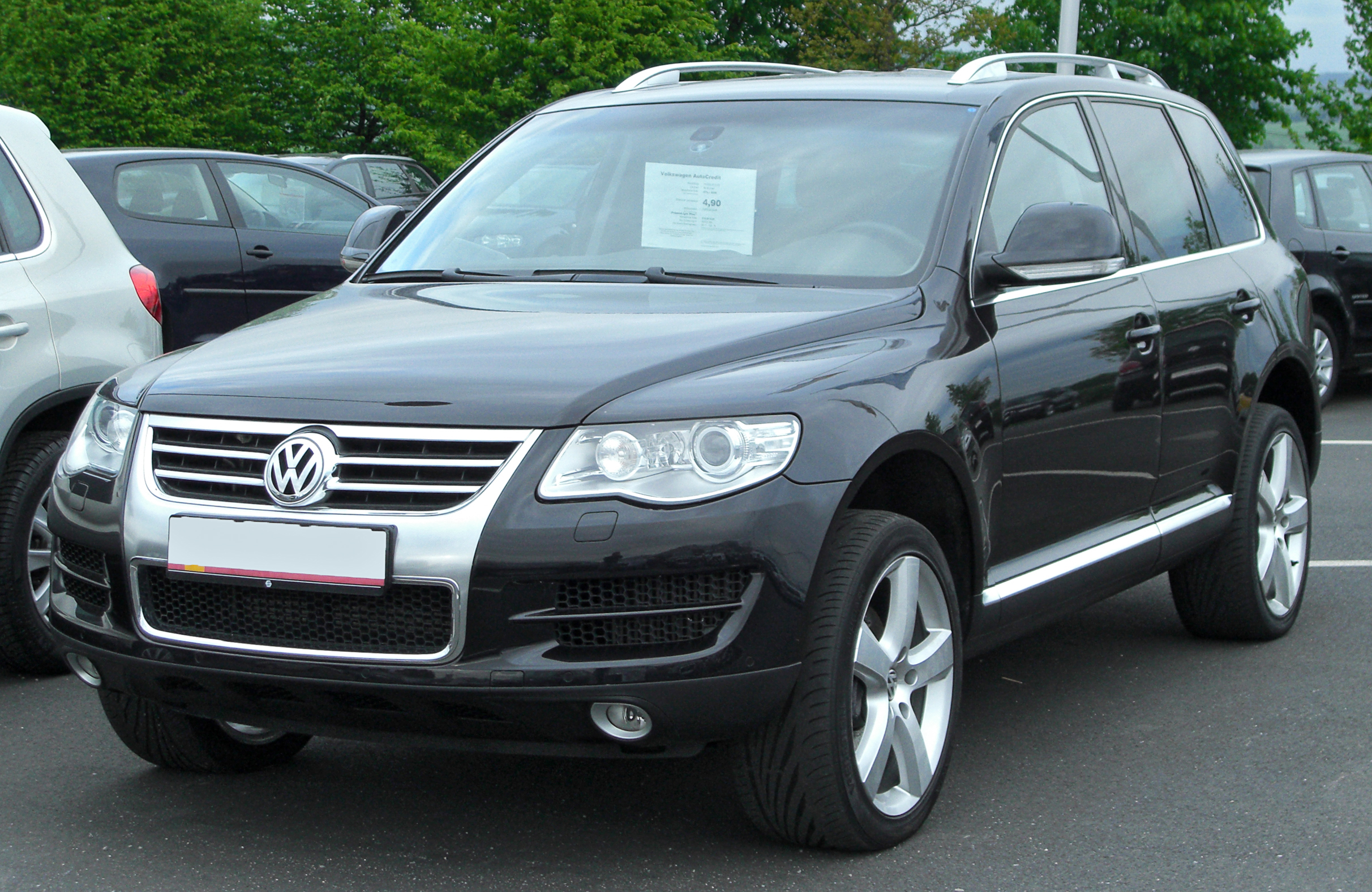 file vw touareg i v6 3 0 tdi facelift front. Black Bedroom Furniture Sets. Home Design Ideas