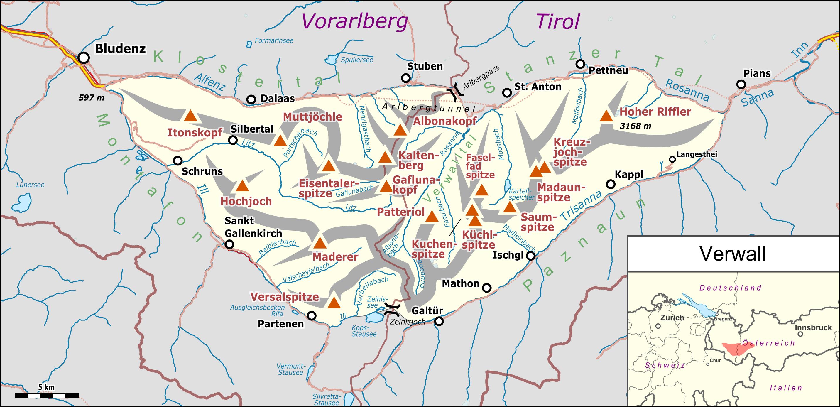 Vorarlberg Karte Berge.Verwall Wikipedia