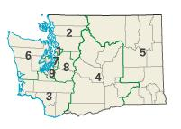 Washington districts in these elections