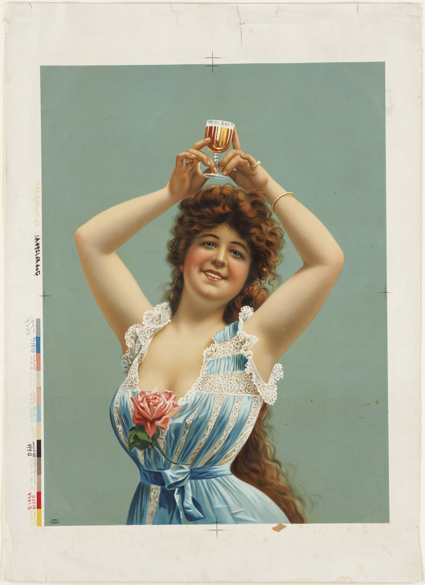 File:Woman holding glass of beer over her head.jpg - Wikimedia Commons
