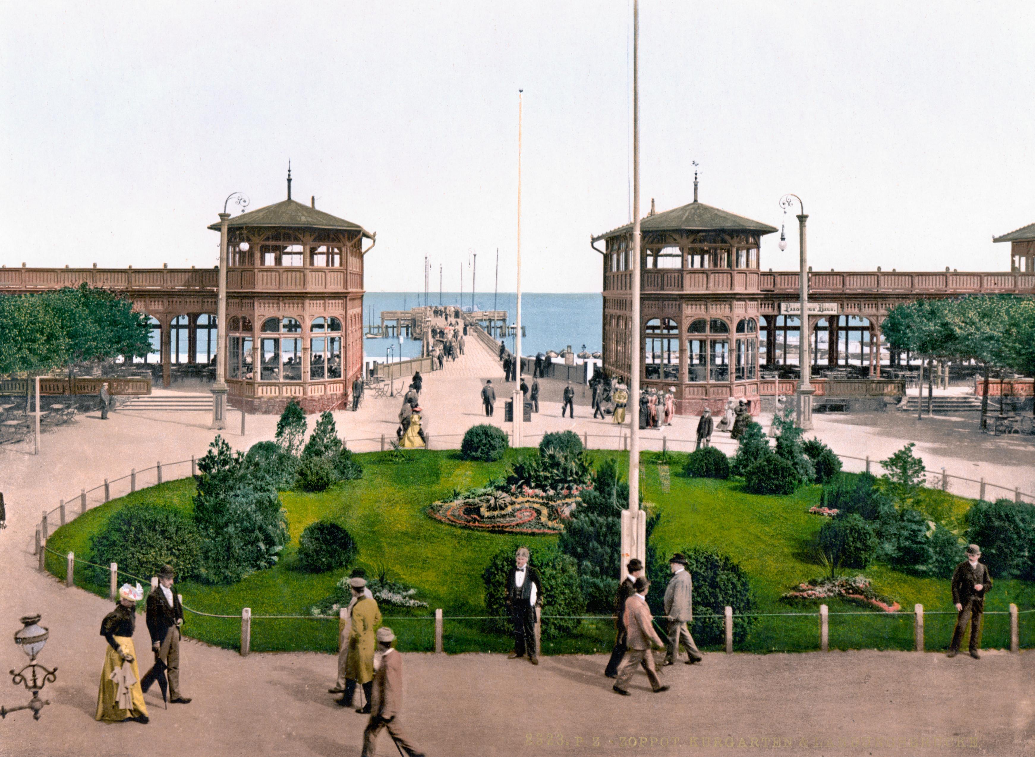 Zoppot Kurgarten 1900
