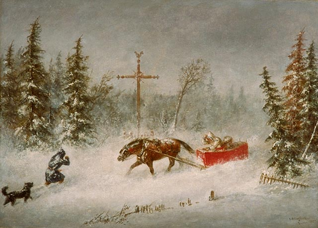 File:'The Blizzard', oil on canvas painting by Cornelius Krieghoff, 1857, National Gallery of Canada.jpg