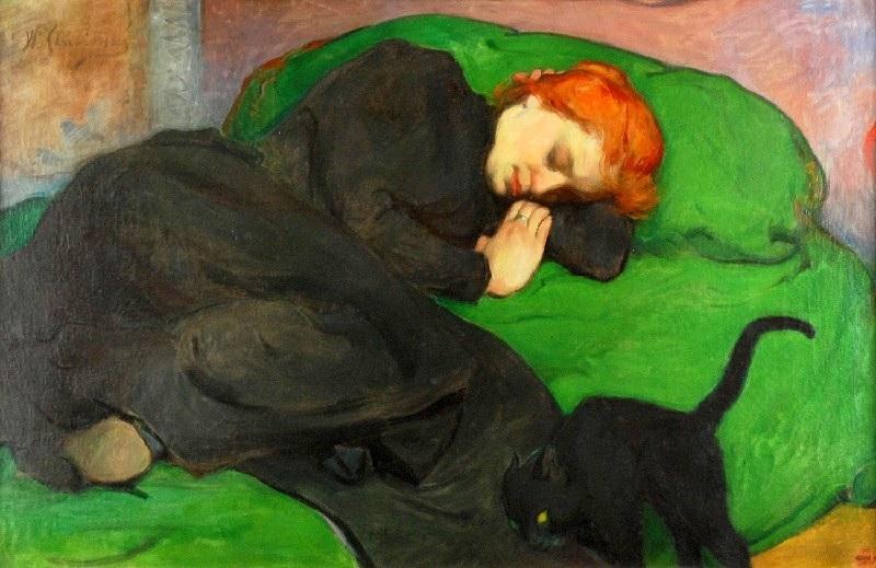 File:Ślewiński Śpiąca kobieta z kotem 1896.jpg - Wikimedia Commons