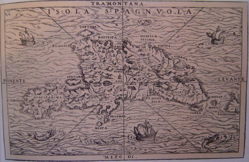 Carte de Hispaniola du XV:e sièclex400px