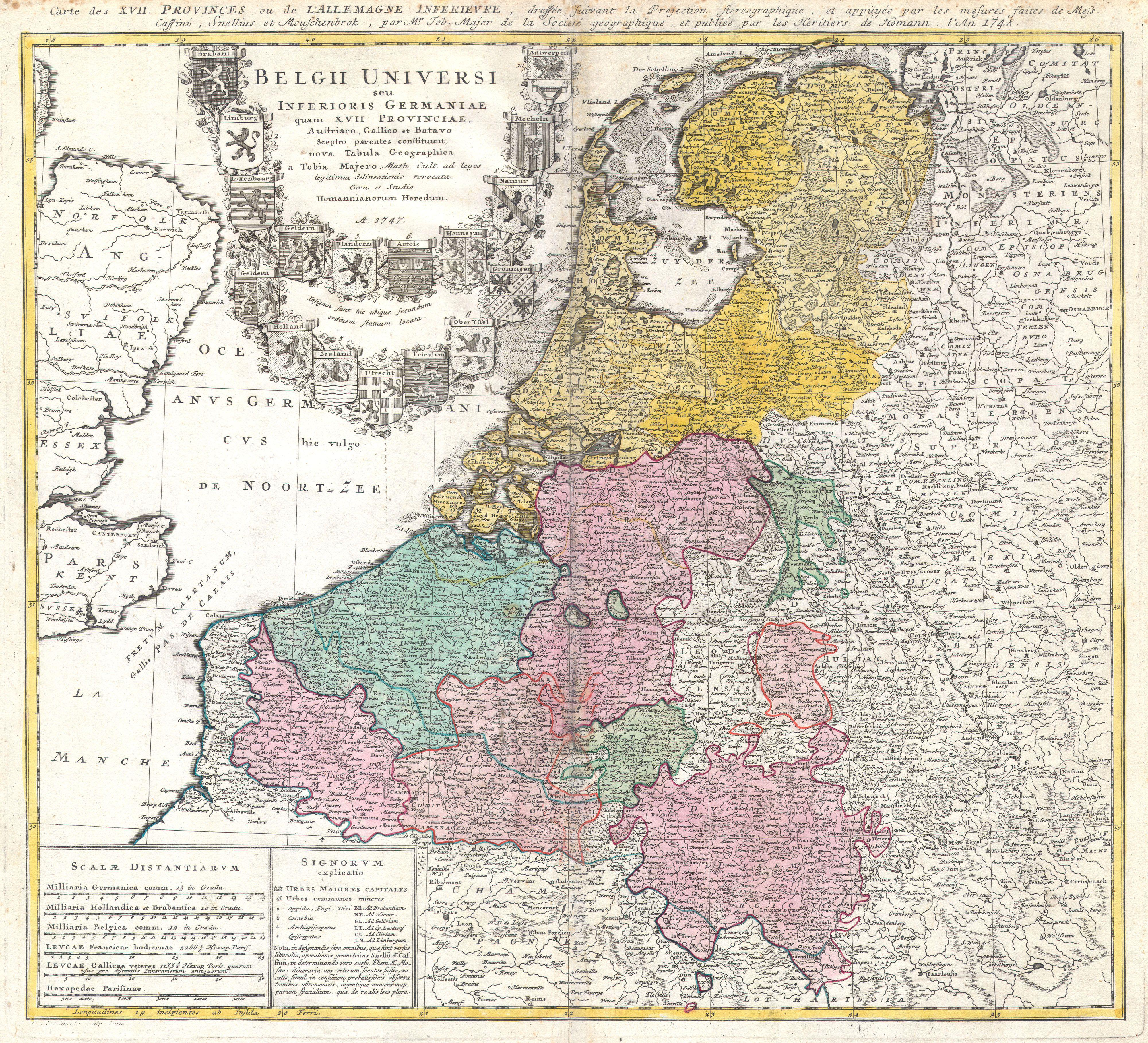file1747 homann heirs map of belgium and the netherlands geographicus belgiiuniversi