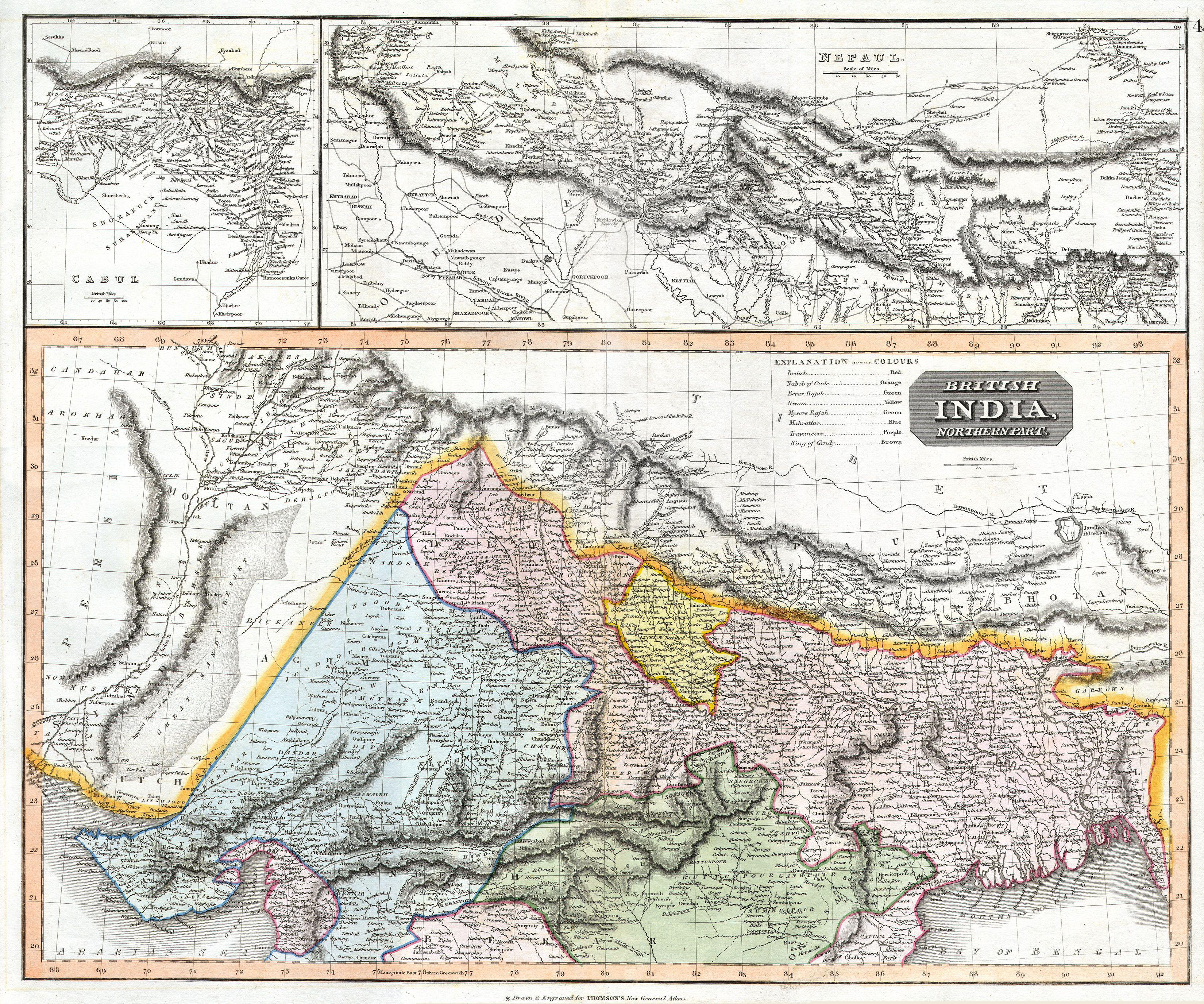 File 1814 Thomson Map Of Northern India And Nepal Geographicus