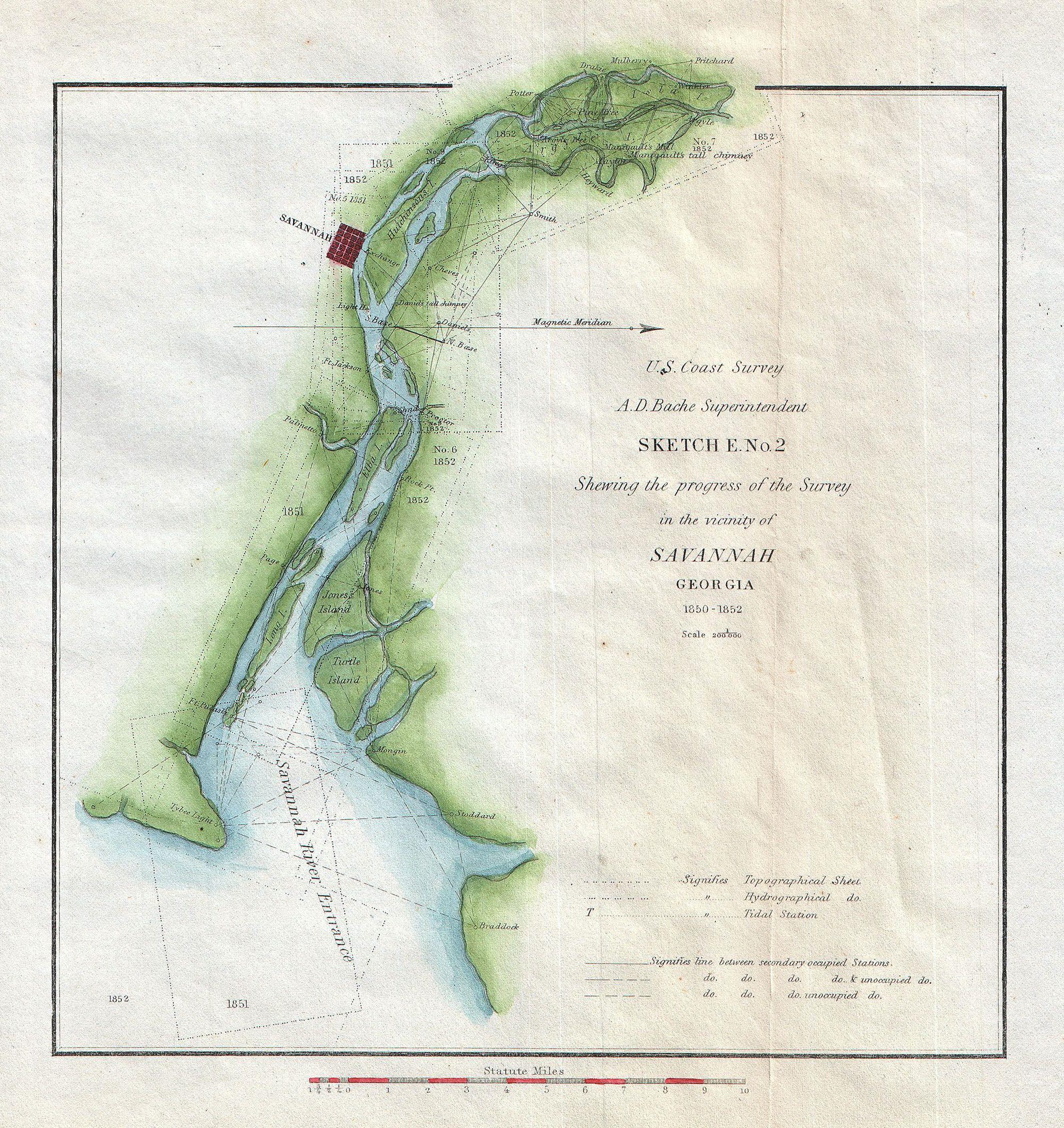 File US Coast Survey Map Of Savannah Georgia And The - Georgia map savannah river