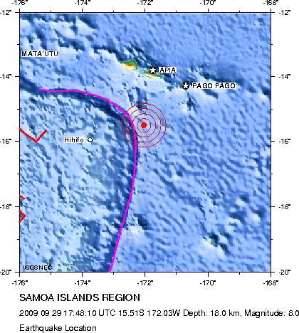 サモア沖地震 (2009年)