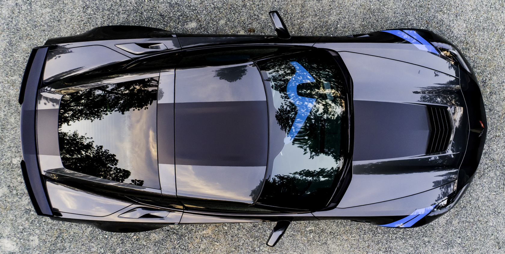 File 2017 Corvette Collector Edition Number 45 Aerial Top