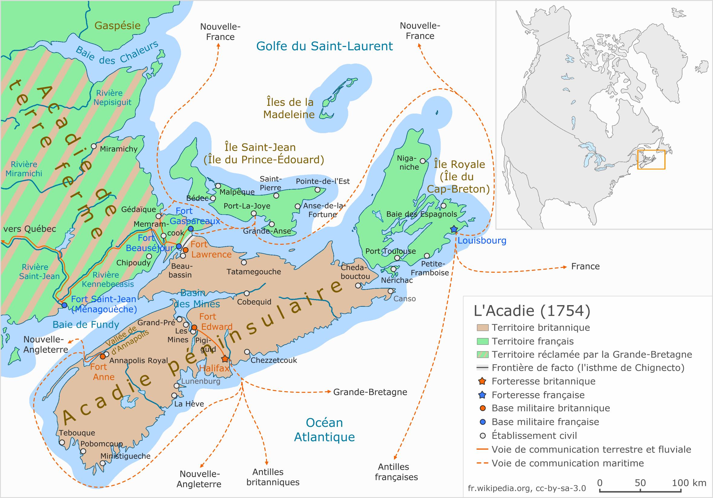Acadie (Nouvelle France) — Wikipédia