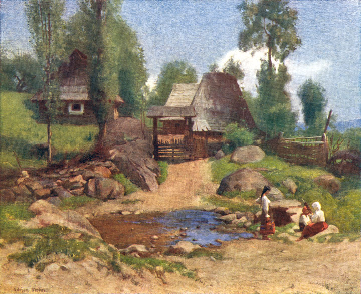 Adrian Scott Stokes - Page 2 Adrian_Stokes_A_Rumanian_Homestead_at_Desze