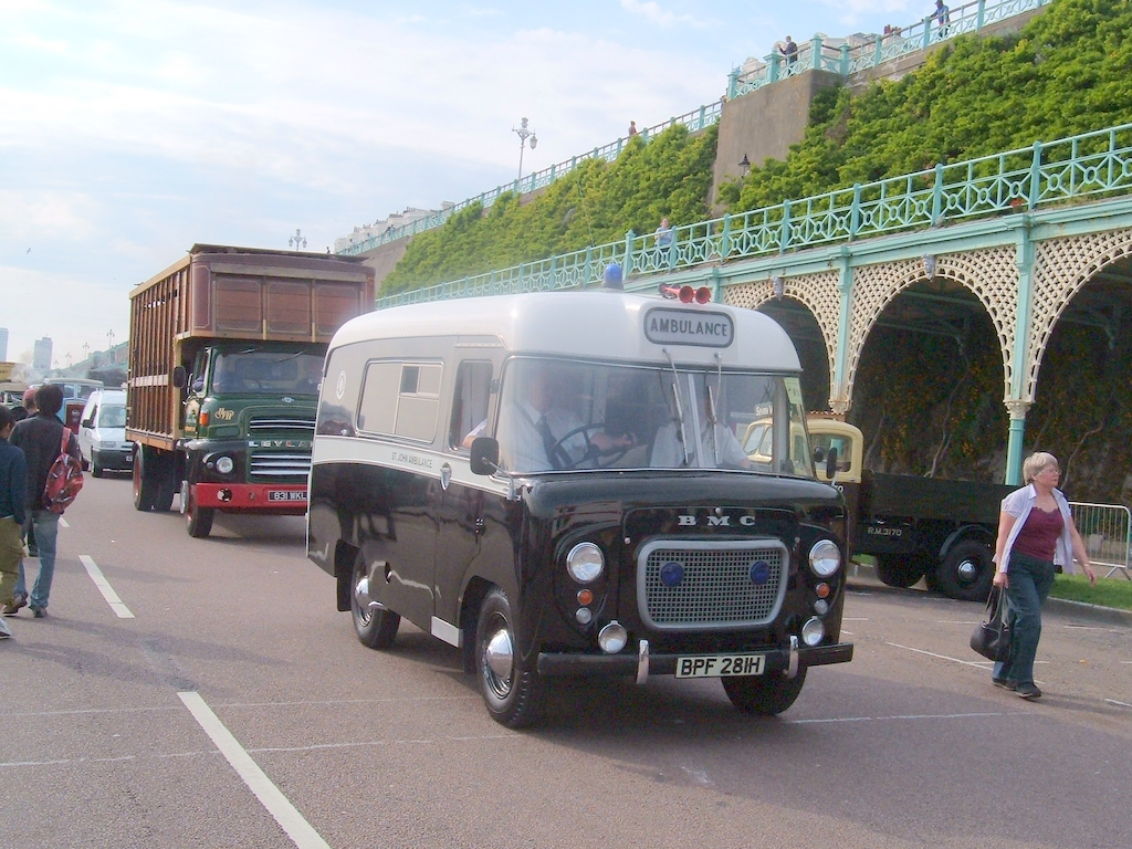 A BMC ambulance.