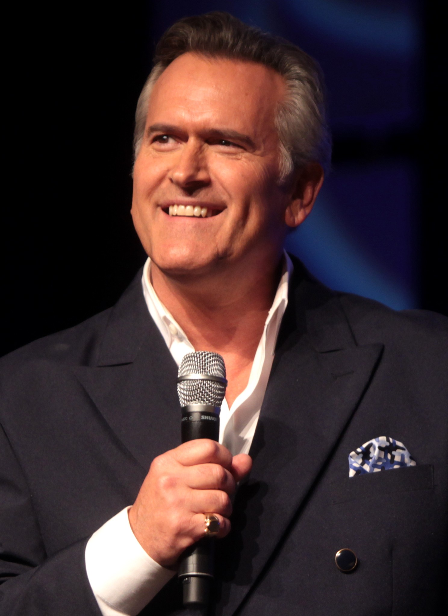 The 60-year old son of father Charlie Campbell and mother Joanne Louise Pickens Bruce Campbell in 2019 photo. Bruce Campbell earned a  million dollar salary - leaving the net worth at 6 million in 2019
