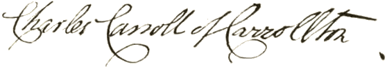 Charles Carroll Signature
