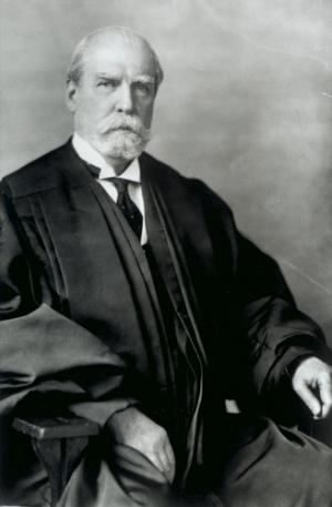 Photographic portrait of Charles Evans Hughes.