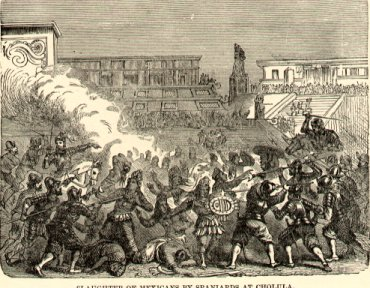 Massacre of Cholula Cholula Massacre (1519).jpg