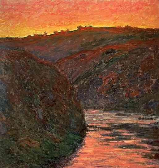 Claude Monet, Creuse, soleil couchant