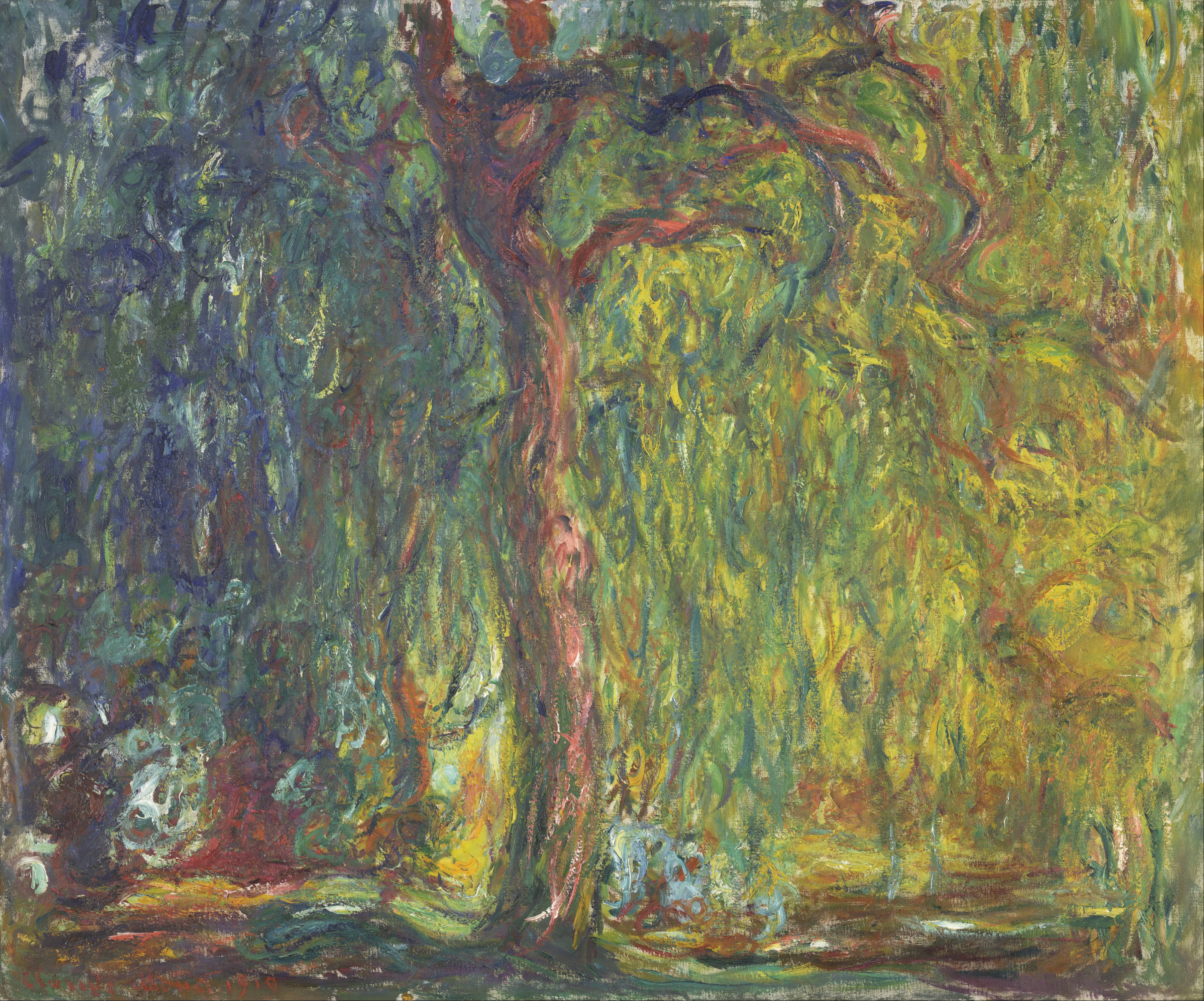 File claude monet weeping willow google art for Claude monet impressionist paintings
