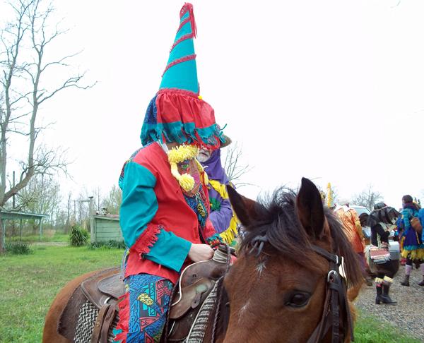 File:Courir de Mardi Gras Horse rider with capuchon Savoy, La 2011.jpg
