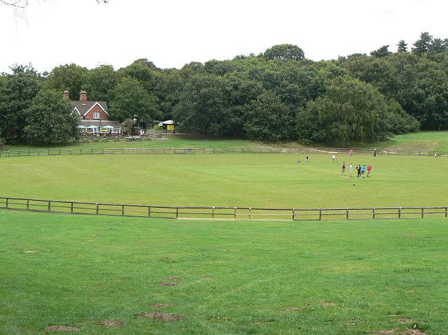 Cricket ground, Burntstump - geograph.org.uk - 1428376